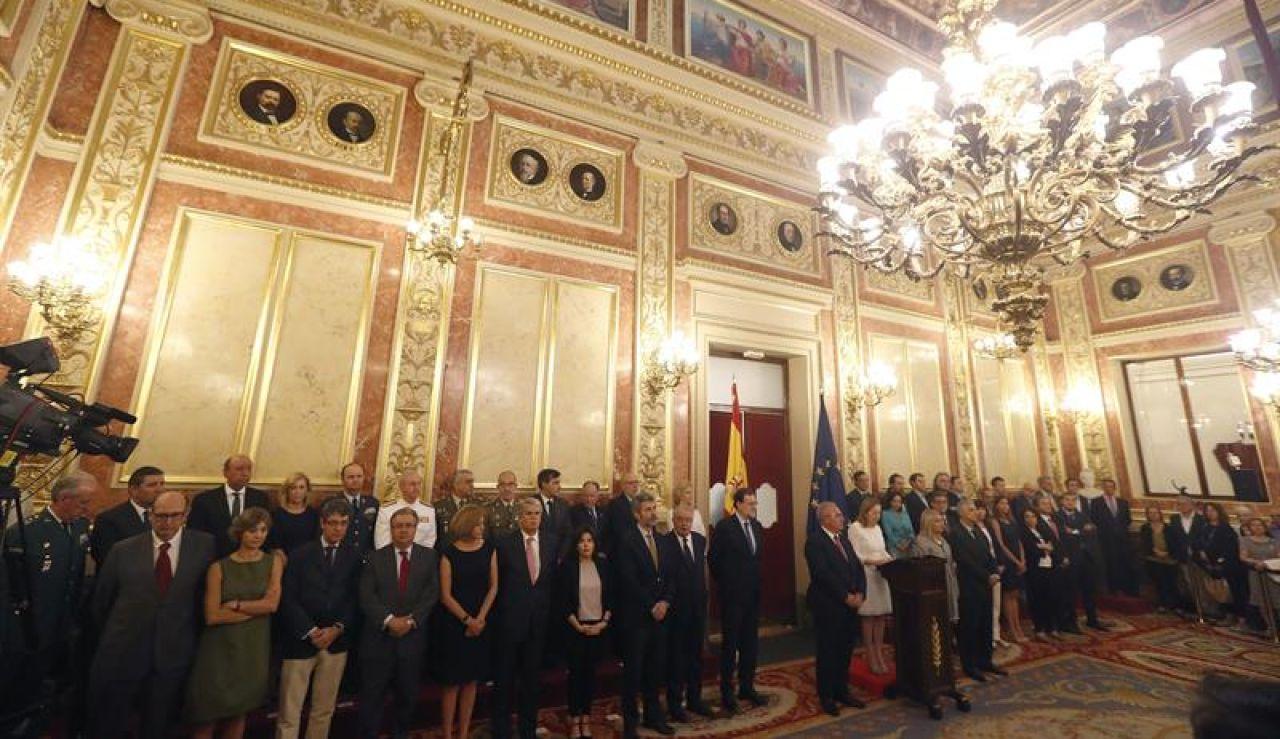 El Congreso de los Diputados acoge el acto con el que cada año rinde homenaje a las víctimas del terrorismo.