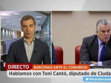 """Toni Cantó, sobre Bárcenas: """"Hay terror porque este hombre tiene el botón nuclear y puede causar un gran problema para el PP"""""""
