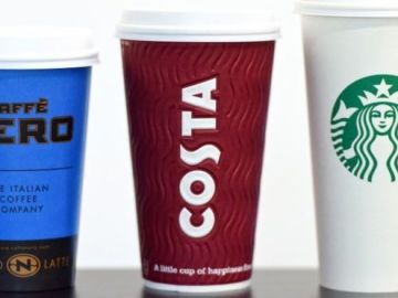 Caffe Nero, Costa Coffee y Starbucks