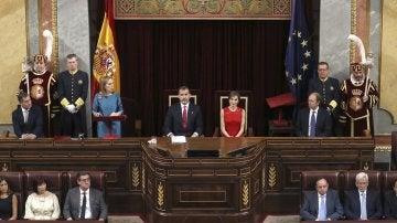 El Rey Felipe conmemorando el 40 aniversario de las elecciones de 1977