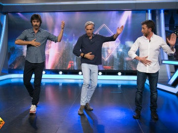 Hugo Silva enseña a Imanol Arias y Pablo Motos a bailar tango en 'El Hormiguero 3.0'