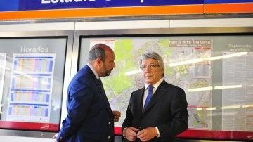 Cerezo presenta la estación 'Estadio Metropolitano'