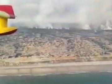 El incendio en el entorno de Doñana afecta a 8.486 hectáreas