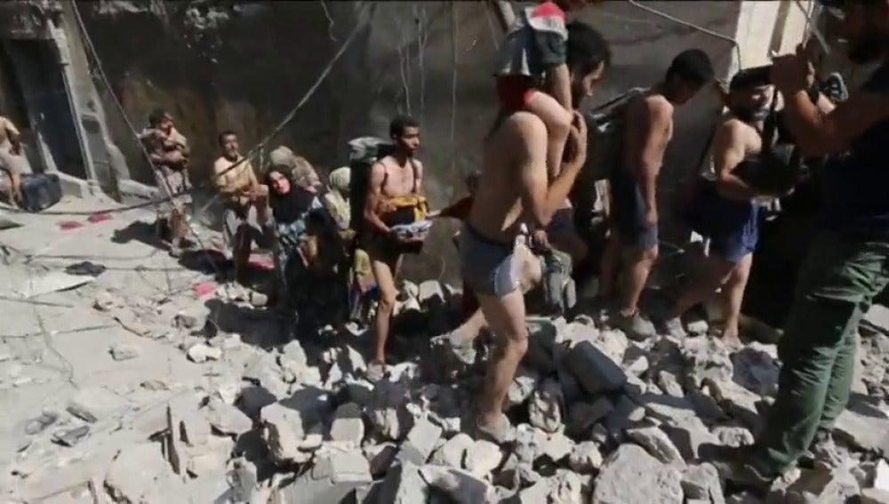 La difícil huida de Mosul