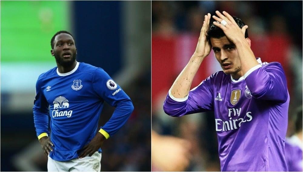 Lukaku y Morata con el Everton y el Madrid, respectivamente