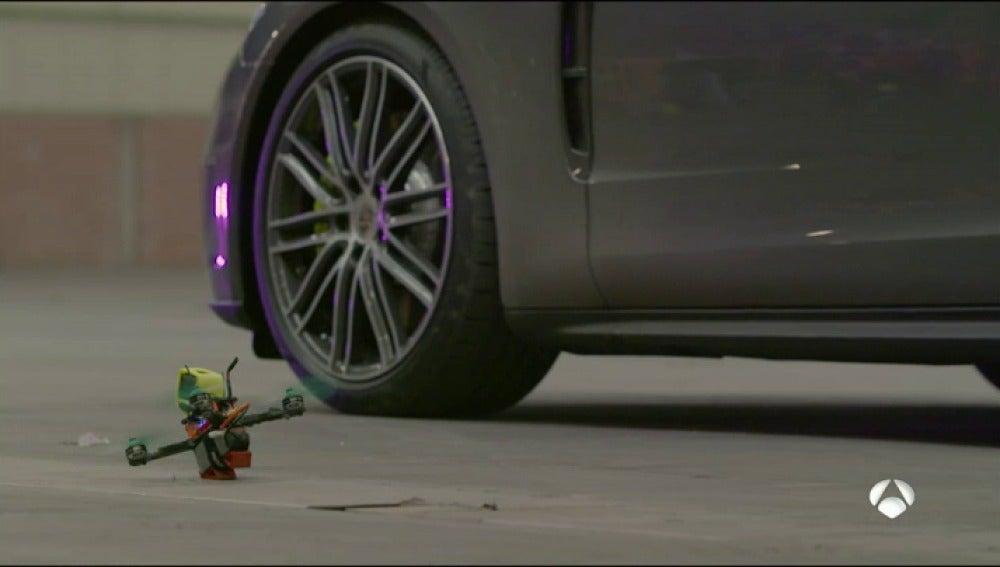 Los drones ganan en todas las carreras, incluso contra un Porsche Panamera