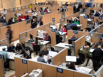 Vista de las instalaciones de la Delegación Especial de la Agencia Tributaria en Madrid