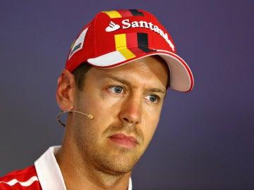 Vettel, en rueda de prensa