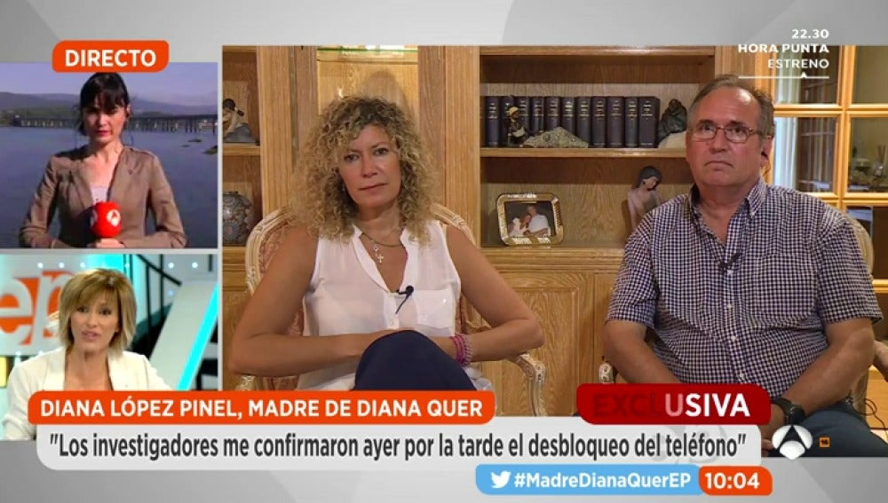 Antena 3 tv la madre de diana quer tras desbloquearse for Espejo publico diana quer