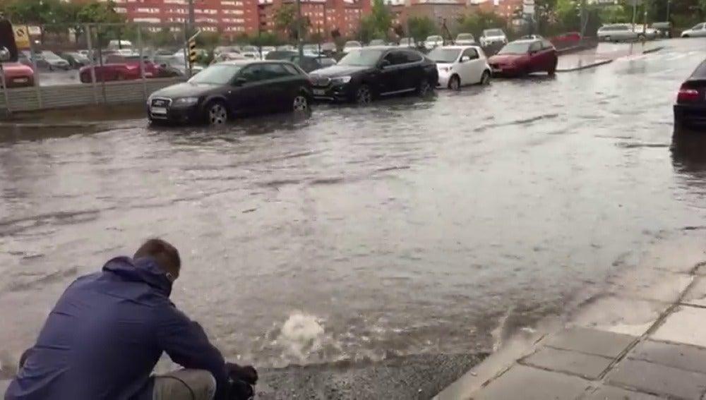 La tromba de agua en Madrid deja más de 150 avisos a los Bomberos de la comunidad