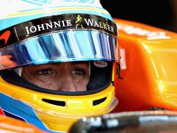 Alonso, en los entrenamientos libres del GP de Austria