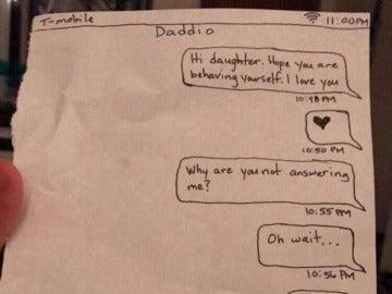 El divertido castigo de un padre que le quitó el móvil a su hija