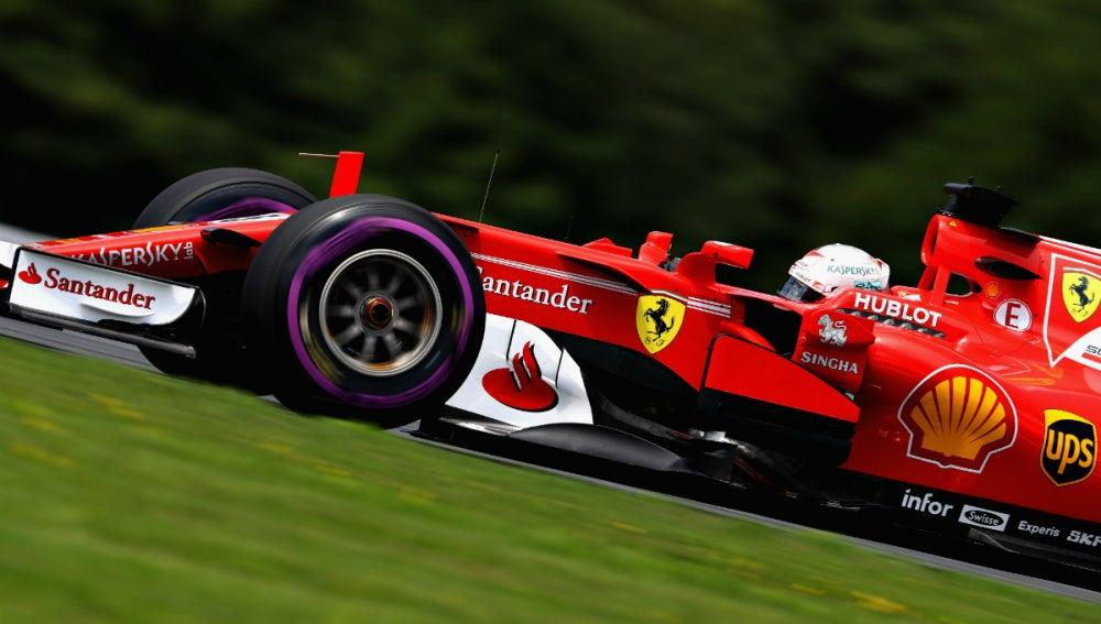 Vettel, en Austria