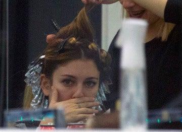 Blanca Suárez en la peluquería