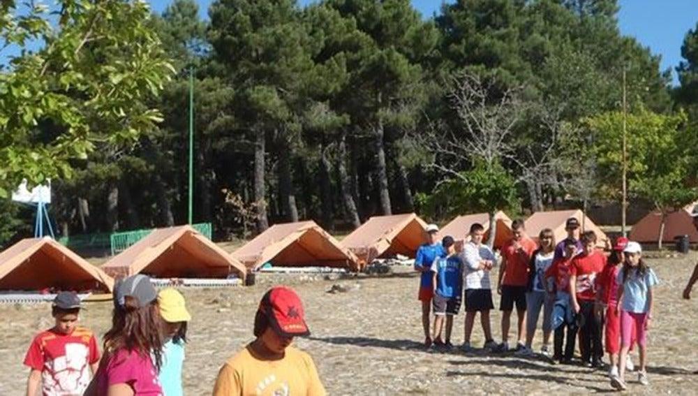 Imagen de archivo de un campamento de verano