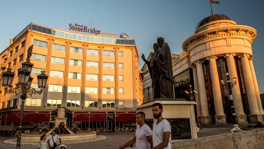 Un hotel en Skopje, capital de Macedonia