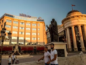 Un hotel en Skopje, capital de Macedonia
