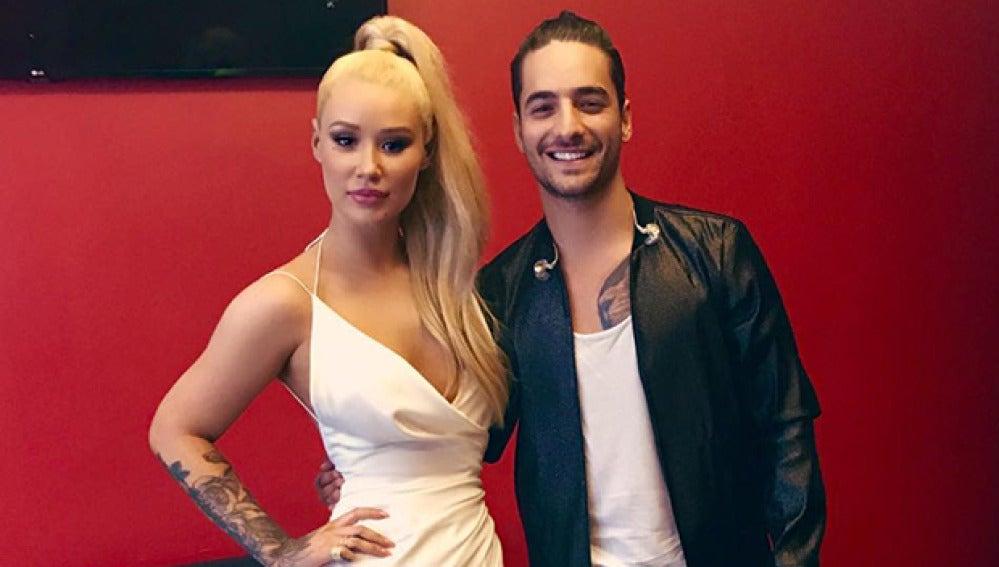 Iggy Azalea y Maluma en los MTV MIAW