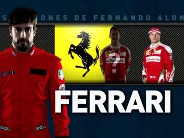 Fernando Alonso, con los colores de Ferrari