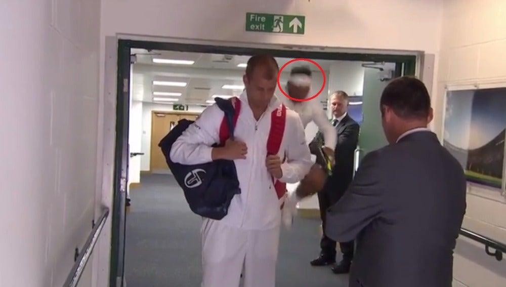 El golpe de Rafa Nadal en Wimbledon