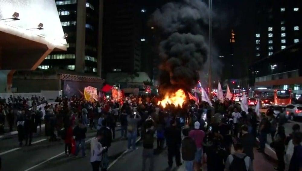 Nuevas protestas en Brasil contra las medidas de austeridad impulsadas por el presidente Michel Temer
