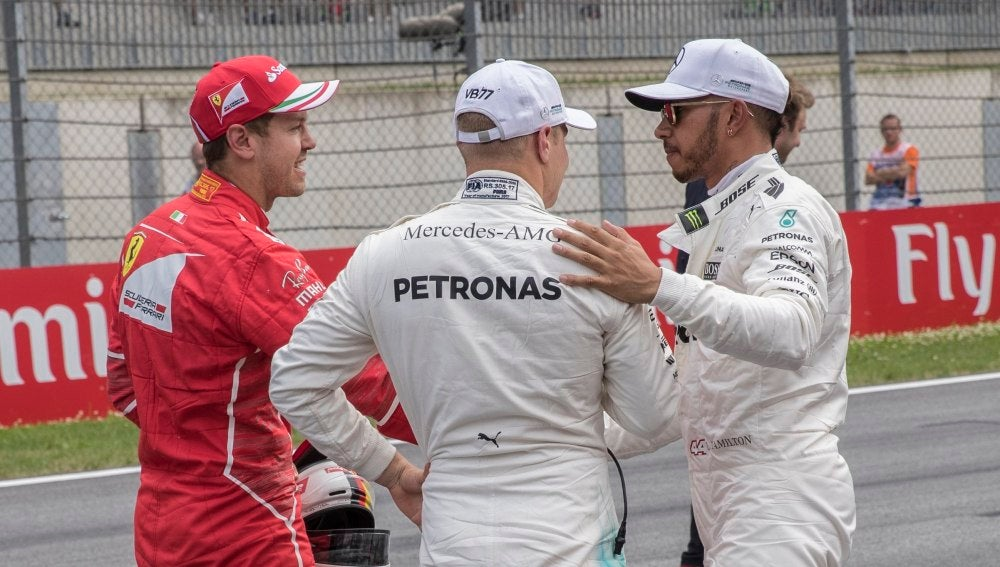 Vettel y Hamilton, en el trazado de Spielberg