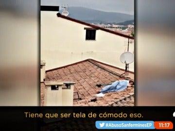 Pillan a una pareja practicando sexo en un tejado en San Fermín