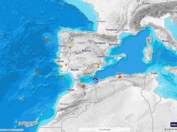 Terremoto Andalucía y Melilla