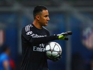 Keylor Navas, en un partido del Real Madrid