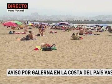 Galerna en el País Vasco
