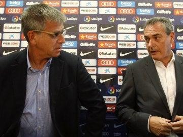 Jordi Mestre (i), vicepresidente del Barcelona