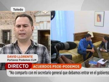"""El diputado de Podemos de Castilla-La Mancha contrario a la oferta de Page: """"El acuerdo presupuestario y de gobierno son cosas distintas"""""""