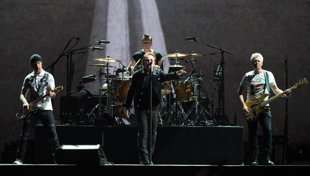 U2 durante su gira The Joshua Tree