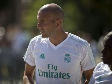 Zinedine Zidane, en la pretemporada del Real Madrid en EEUU