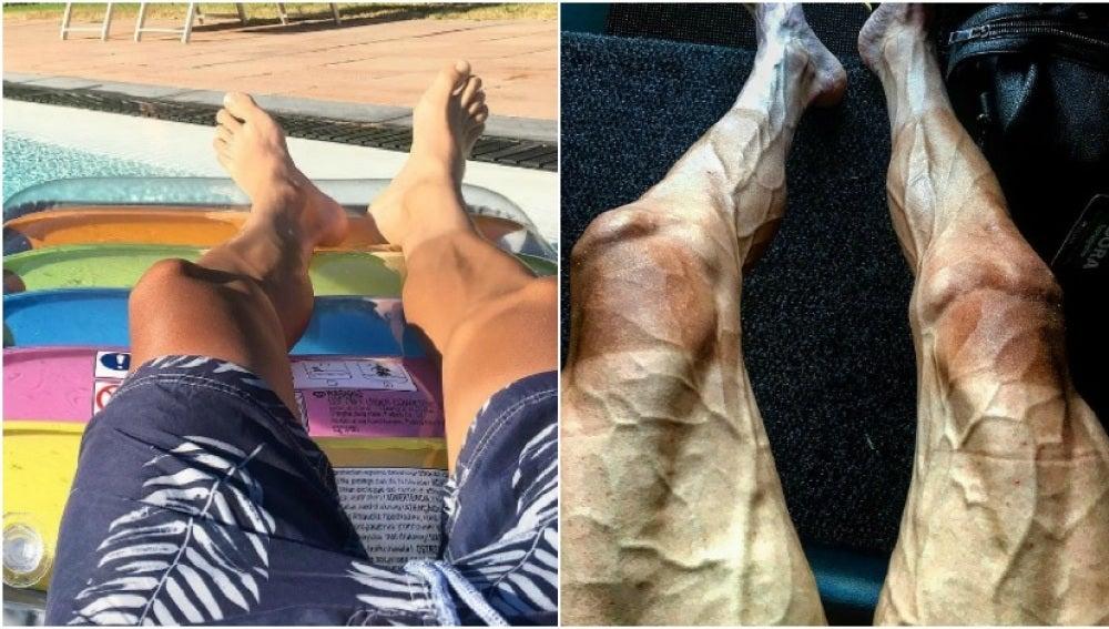 Contraste de las piernas de Pawel Poljanski