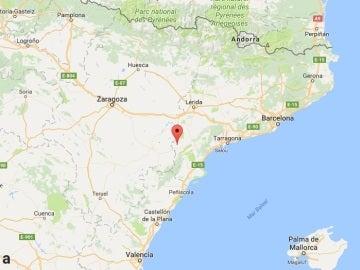 Ubicación del municipio de Batea, en Tarragona