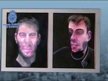 Recuperan tres de las obras de Bacon robadas en Madrid