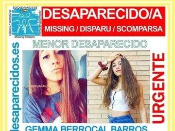 Gemma Berrocal, desaparecida en Barcelona