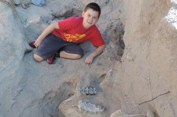 Un niño descubre un fósil en Nuevo México