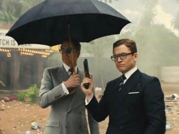 Colin Firth y Taron Egerton en 'Kingsman 2'