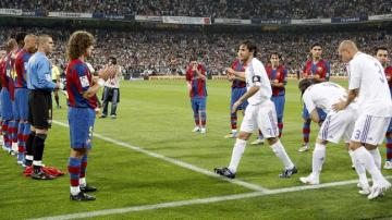 Pasillo del Barcelona al Real Madrid (2008)
