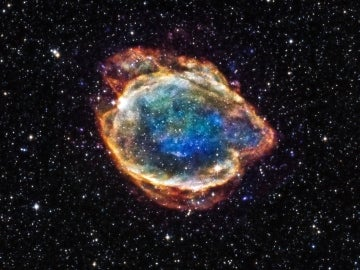Imágenes de una supernova