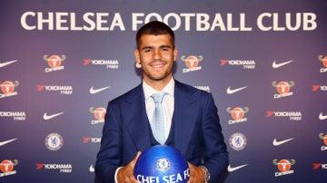 Álvaro Morata, en su presentación con el Chelsea