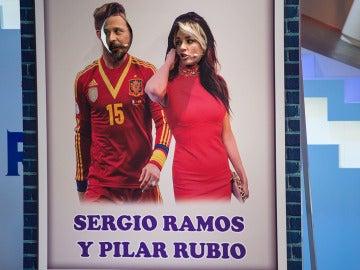 Anna Simon se convierte en una sensual Pilar Rubio junto al Sergio Ramos más cómico