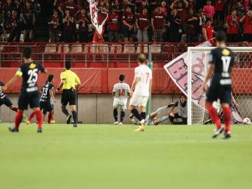 El Kashima marca un gol al Sevilla