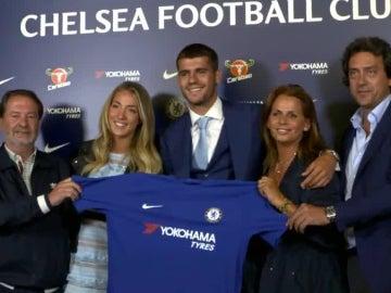 Álvaro Morata, con la camiseta del Chelsea