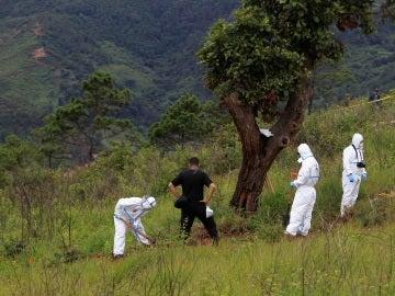 La Policía científica inspecciona la zona