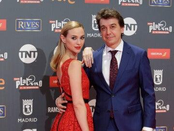 Marta Hazas junto a su marido Javier Veiga