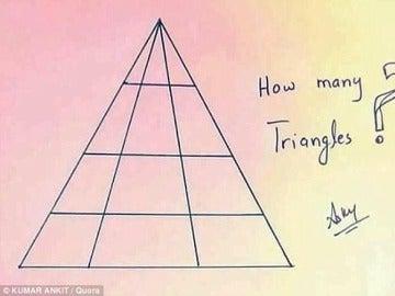 ¿Cuántos triángulos hay en la imagen?