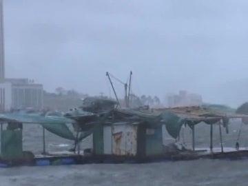El tifón Roke que ha azotado a China